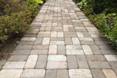 A cobble type interlock adds texture and volume. Multi-colour arrangement adds class.